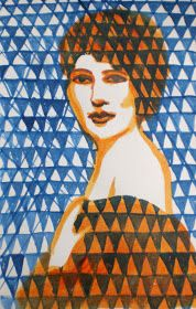 Warrior Girl- Rowena Murillo: Woman in Triangles and Woman Lost in Stripes, #9/100 and #10/100