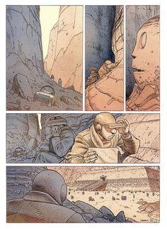 Moebius - La Planète Encore (Another Planet) Illustrators, Comic Art, Jean Giraud, Graphic Illustration, Moebius Art, Graphic Novel, Moebius, Comic Collection, Interesting Art