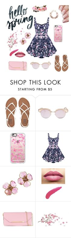 """Spring Break"" by nmdejager ❤ liked on Polyvore featuring Billabong, Le Specs, Casetify, Chanel, ShoeDazzle, TheBalm, Salvatore Ferragamo, WALL and springflorals"