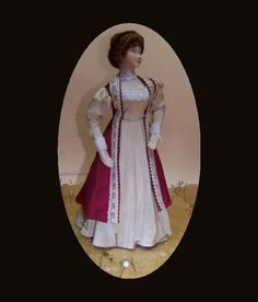 Dollhouse Doll Miniature Edwardian Lady by MrsTiggywinkleDolls