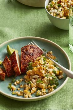 Smoky Chicken with Charred-Corn Saladwomansday