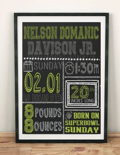 Sports Birth Announcement Chalkboard by Opheliafpg on Etsy birth announcements sports, baseball birth announcements Announcement Cards, Birth Announcements, Super Bowl Sunday, Things That Bounce, Printables, Chalkboard Ideas, Sports Baseball, Baby Newborn, Gifts