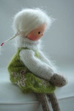 Handmade art doll Knitted doll Joy 14 by by danielapetrova on Etsy