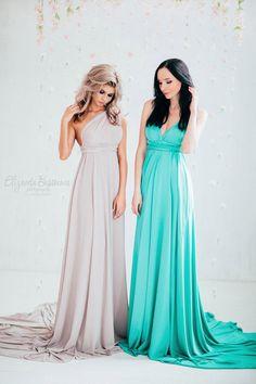 Платье-трансформер. Трикотаж масло. Длинное платье. Вечернее платье.