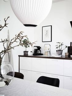 Home with blue-grey accents - via Coco Lapine Design blog