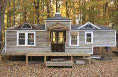 Carriage house style tiny house on wheels. Love. #tinyhomeonwheelsideas