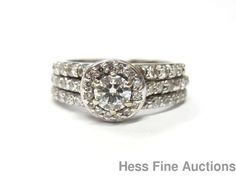 Orig 14k White Gold Serpentine Kays Multi Diamond Wedding Ring Sz 6.75 w Papers #KayJewelers