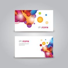 20 best business cards designs images on pinterest free graphics business card template by dryicons business card colorful template reheart Choice Image