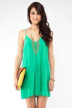 Strap In Tunic in Green :: tobi