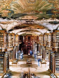 Abbey Library St. Gallen, Switzerland  Image is by Candida Hoffer