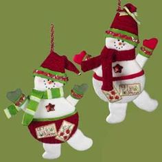 """15"""" Snowman Stocking, 2 Styles Available. Sold in Sets of 2"""
