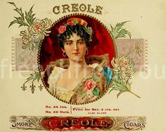 antique pinup pink roses louisiana creole  by FrenchFrouFrou