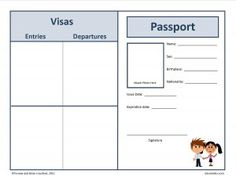 passports template freebie sparkling in second pinterest