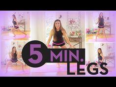 5 Minute Long Lean Legs - YouTube