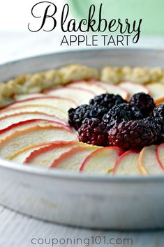 Blackberry Apple Tart Recipe | Tart blackberries and sweet apples come together in this elegant dessert. This fruit tart is both beautiful AND delicious!