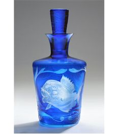 artel jungle baroque decanter piranha azure barware crystal harlequin london