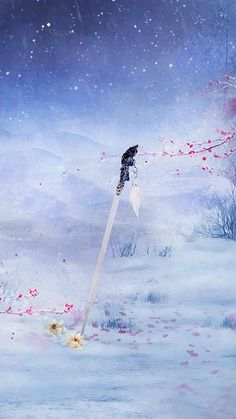 By Artist Unknown. Fantasy Sword, Fantasy Weapons, Fantasy Art, Chinese Art, Chinese Painting, Anime Weapons, Me Anime, Weapon Concept Art, Creative Pictures