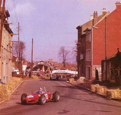 f1 1962, IV Grand Prix de Bruxelles. Bruxelles. Willy Mairesse going to win in the amazing Ferrari 156.
