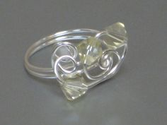Sterling Silver & Crystal ring