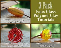 Polymer Clay Tutorial Pack How to Make Faux by RusticBeetleTrading - tutorial to buy