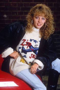 Kylie Minogue Rocked All The Trends Including The Poodle Perm, Hooped Earrings And Oversized Jackets, 1980s Fashion Trends, 80s Trends, 80s And 90s Fashion, Fashion News, Fashion Brands, Fashion Outfits, Cheap Fashion, Fashion Women, Retro