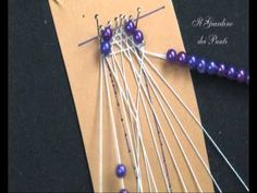This step-by-step tutorial shows you how to loom knit a criss-crossed turban headband / ear warmer band directly on a loom in 1 piece. In this tutorial you w. Bobbin Lace Patterns, Bead Embroidery Patterns, Beaded Embroidery, Bobbin Lacemaking, Crochet Lace Edging, Hairpin Lace, Lace Heart, Tatting Lace, Needle Lace