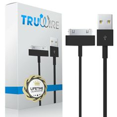 Truwire 30 Pin to USB cable for iPhone 3, 3G, 3GS, 4, 4S - iPad 1, 2, 3 - iPod Touch, Nano, and Shuffle - 1m or 3.2 feet - Designed to Sync and Charge - Premium Quality with Lifetime Guarantee (Black) TruWire http://www.amazon.com/dp/B00ITG2D1Q/ref=cm_sw_r_pi_dp_fNVNtb1BFTRYMBCJ