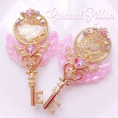 Kawaii Jewelry, Kawaii Accessories, Jewelry Accessories, Key Jewelry, Resin Jewelry, Cute Jewelry, Magical Jewelry, Resin Charms, Fantasy Jewelry