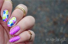 """{NOTW. New Year's mani edition.} This was inspired by Candice aka mrcandiipants. Candice has some of the prettiest floral designs, ever. I love florals and her designs! This particular mani was inspired by this mani. I know, you're probably thinking, """"this mani doesn't really give me a New Year's vibe."""" lol. I needed something with polka dots as they're significant to Filipino superstitions and celebrating this holiday! This is one of many (superstitions) but the round shape signifies…"""