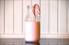 Peppermint milk - fun to do with the kids