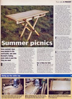 Folding Picnic Table Plans - Outdoor Furniture Plans