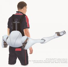 """MIT lab designs workload-sharing robotic limbs - Mention """"robotic limbs"""" and one thinks of devices being developed to replace the loss of human limbs. Mention """"exoskeleton"""" and one thinks of a suit governing and bound to the entire body..."""