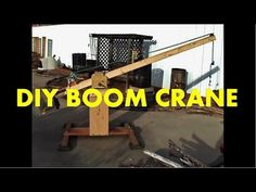 In this video I'm building a boom crane to lift two of my Stealth VAWTs two stories up to my roof. Crane Lift, Crane Boom, Crane Design, Gantry Crane, Mid Century Modern Kitchen, Diy Workshop, Woodworking, Diy Projects, Tools