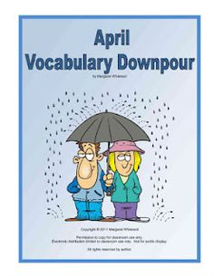 Free April Vocabulary Challenge