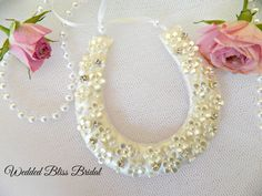 Wedding Bridal Horseshoe charm Ivory by WeddedBlissBridal on Etsy