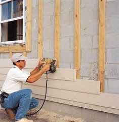 Image result for shiplap siding concrete insulation installations