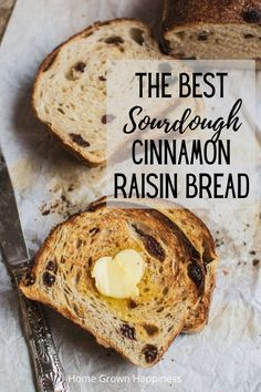 Deliciously soft, scented with cinnamon and studded with raisins. This sourdough cinnamon raisin bread is great to eat fresh, or toasted and slathered with butter. Sourdough Recipes, Sourdough Bread, Bread Recipes, Starter Recipes, Vegan Recipes, Pain Au Levain, Decadent Chocolate Cake, Vegan Chocolate, Cinnamon Raisin Bread