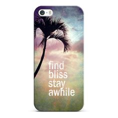 find bliss stay awhile iPhone & iPod case by Sylvia | #Casetagram #iphonecase #typography