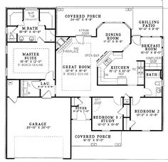 Simple house plans with great room 1500 sq ft house for His and hers walk in closet designs