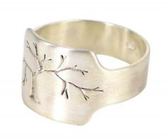 Pierced Tree signet ring in sterling silver  $350