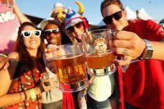 Enjoying the sun, beer, and fun!