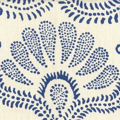Navy and cream hand printed fabric -- Hillevi – Hemp - Baltic - HLV30 - Peter Fasano
