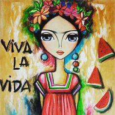 Viva la Frida!  Nada dura para siempre por eso quiero que seas mi nada  . . . .  #khalo #frases #fridakahlo #tonigh #whises #imdifferent #justdoit #lovefrida #picture #vida #moments #club #inlove #soulmate #locura Mexican Artists, Mexican Folk Art, Illustrations, Illustration Art, Kahlo Paintings, Frida Art, Frida Kahlo Artwork, Mexico Art, Diego Rivera