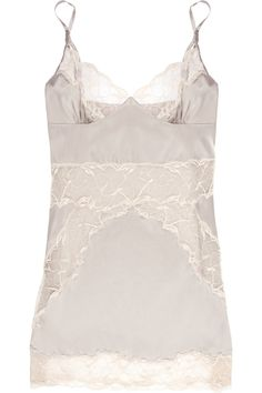 Stella McCartney - Selma Dancing stretch-silk satin and lace chemise 192d5581eea