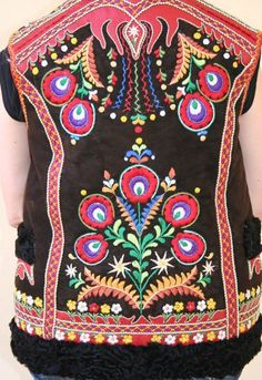 Back of male vest from village Ždiar, Spiš region, Eastern Slovakia.