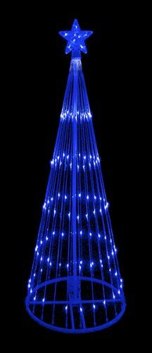 NorthLight 9 in Blue LED Light Show Cone Christmas Tree Lighted Yard Art Decoration >>> Continue to the product at the image link.