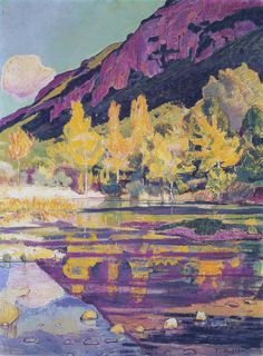 At the foot of the Petit Saleve - Ferdinand Hodler.  Art Experience:NYC  http://www.artexperiencenyc.com/social_login