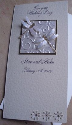 Sparkly Dragonflies  Wedding Card  by CupidandPsyche on Etsy, $6.00