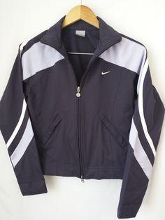 Nike Jacket Small S Purple & White Zipper Front Running Sport Long Sleeve  #Nike #CoatsJackets
