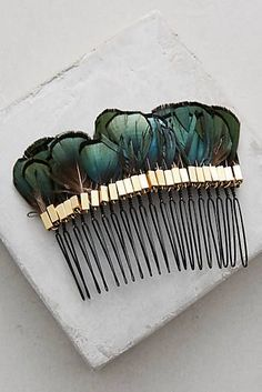 Plumed Hair Comb